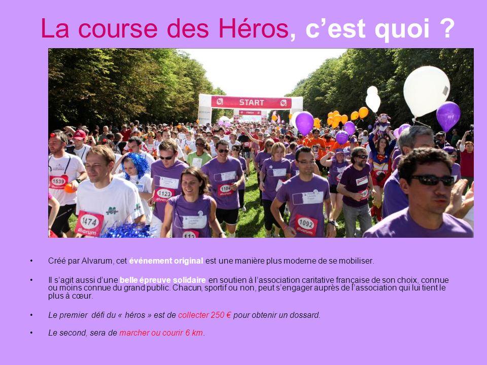 La course des Héros 2014 Un challenge du cœur Cette année encore, nous avons décidé de nous mobiliser pour la Course des Héros au profit de l'Associat