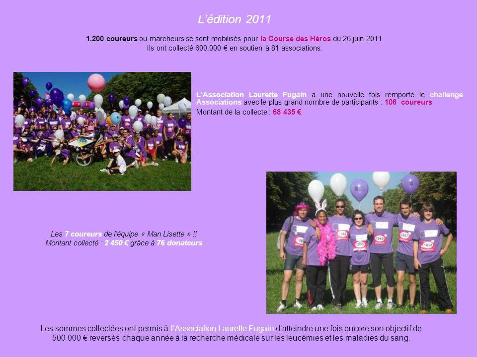 Grande première en France, la Course des Héros du 6 juin 2010 a rassemblé plus de 45 associations. Près de 600 coureurs ont collecté 300.000 € grâce à