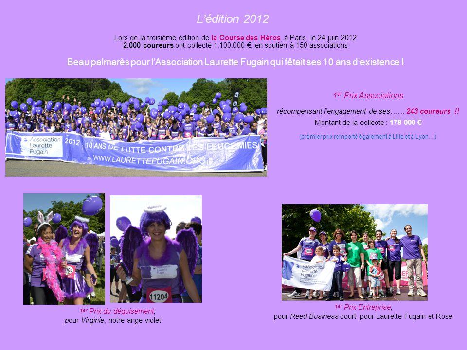 L'édition 2011 1.200 coureurs ou marcheurs se sont mobilisés pour la Course des Héros du 26 juin 2011. Ils ont collecté 600.000 € en soutien à 81 asso
