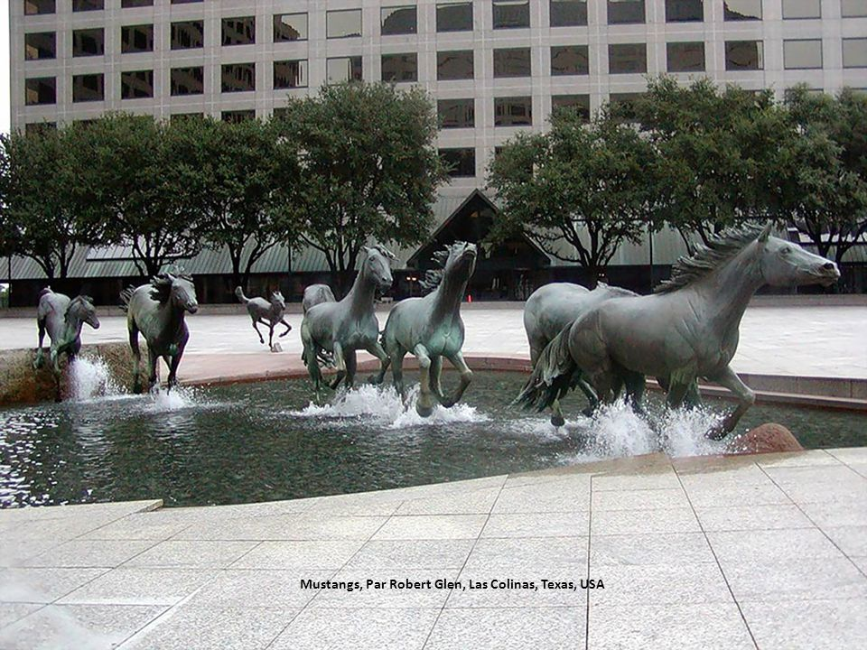 Mustangs, Par Robert Glen, Las Colinas, Texas, USA