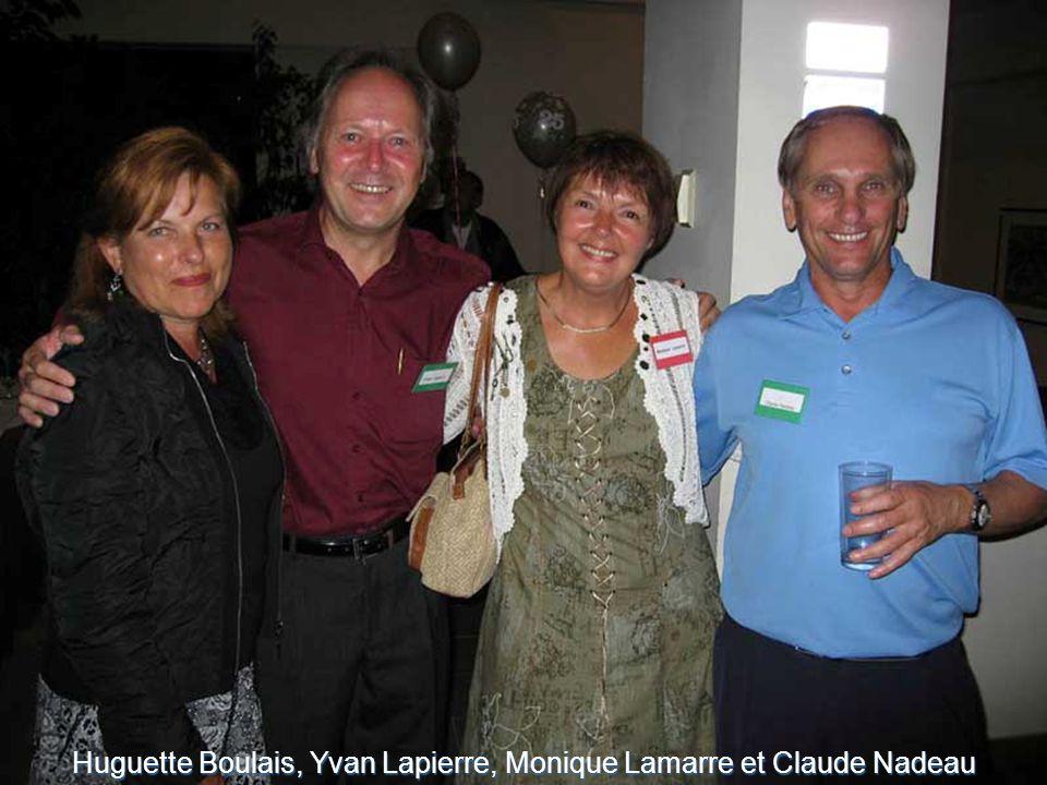 Huguette Boulais, Yvan Lapierre, Monique Lamarre et Claude Nadeau