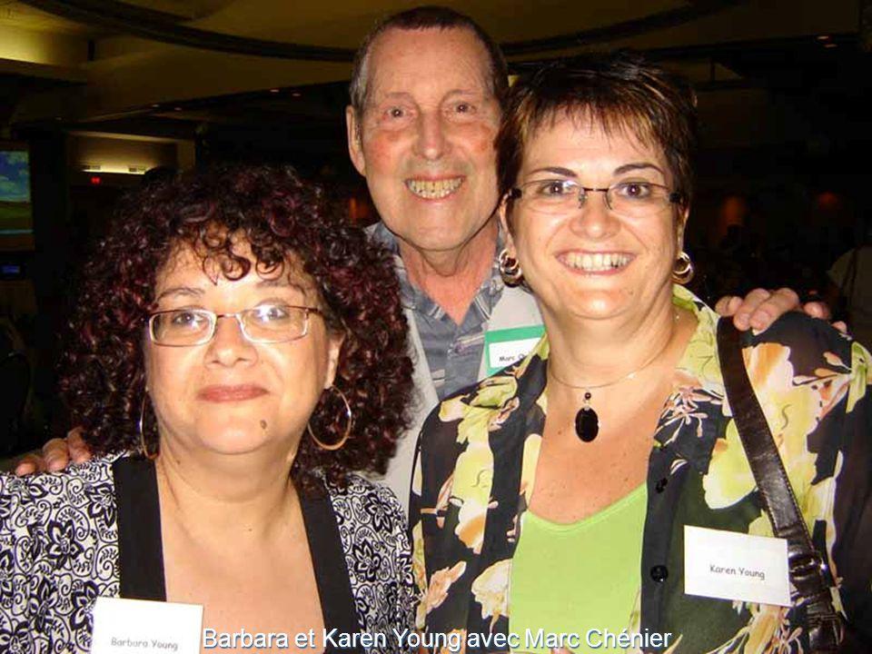 Barbara et Karen Young avec Marc Chénier