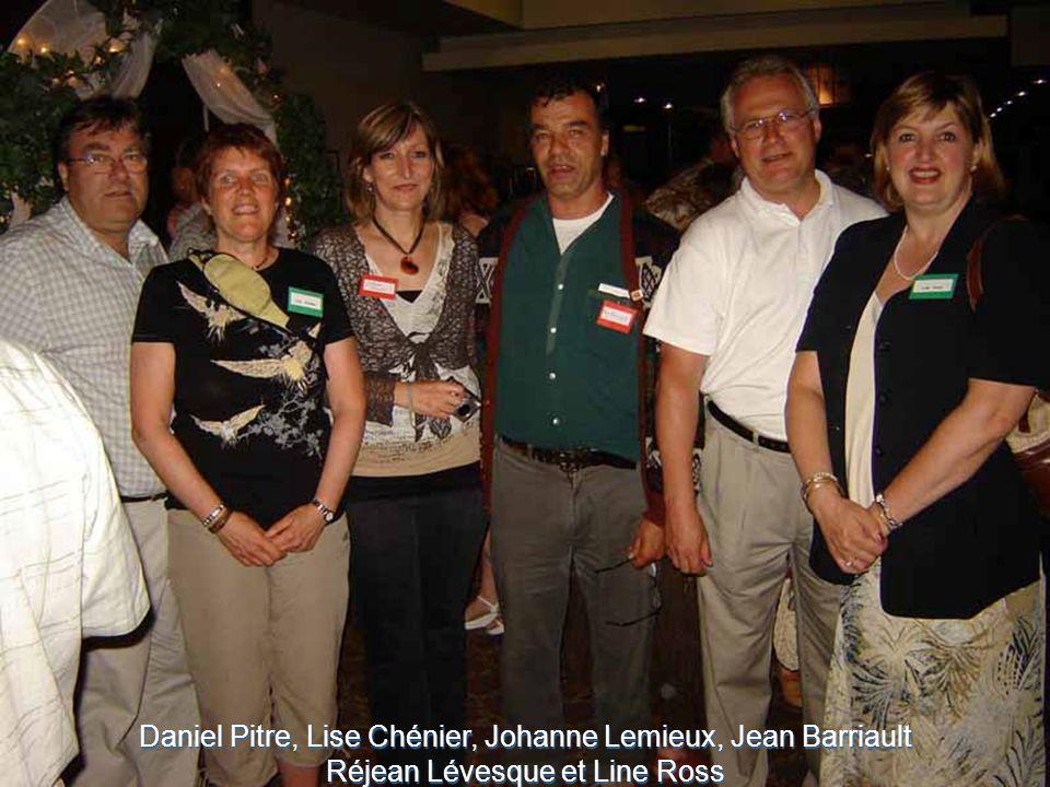Daniel Pitre, Lise Chénier, Johanne Lemieux, Jean Barriault Réjean Lévesque et Line Ross