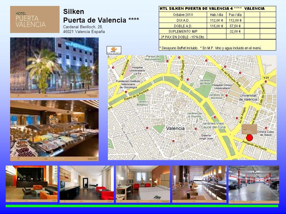 Silken Puerta de Valencia **** Cardenal Benlloch, 28, 46021 Valencia España