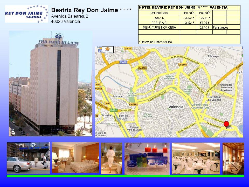 Beatriz Rey Don Jaime * * * * Avenida Baleares, 2 46023 Valencia