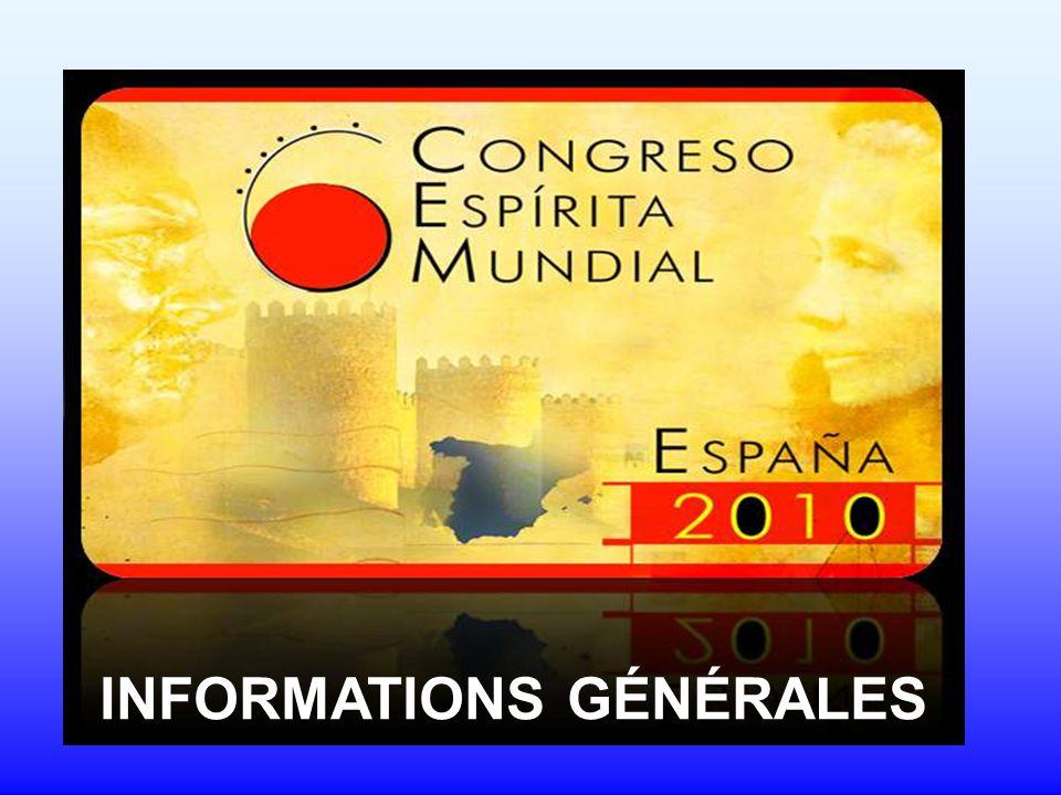 6º Congrès Spirite Mondial Quand.Les 10, 11 et 12 octobre 2010 Où.