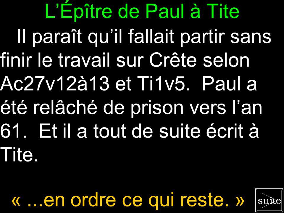 L'Épître de Paul à Tite 2.