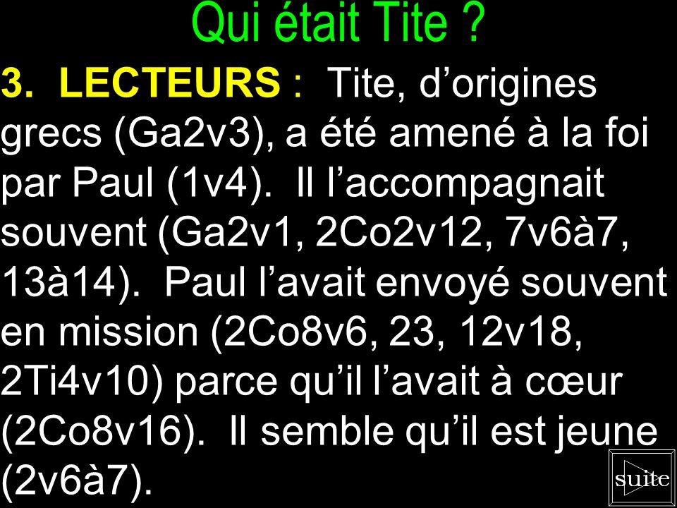 L'Épître de Paul à Tite Il paraît qu'il fallait partir sans finir le travail sur Crête selon Ac27v12à13 et Ti1v5.