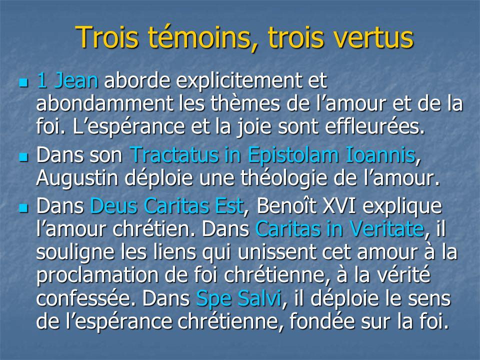 S'il nous faut revenir à l'essentiel, regardons de près Amour, foi, espérance À la lumière du triple témoignage de Jean, Augustin et Benoît XVI
