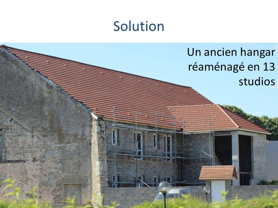 Solution Un ancien hangar réaménagé en 13 studios