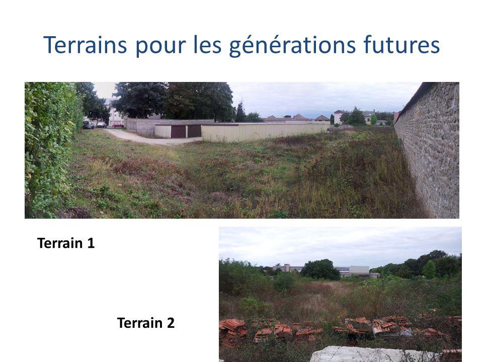 Terrains pour les générations futures Terrain 1 Terrain 2