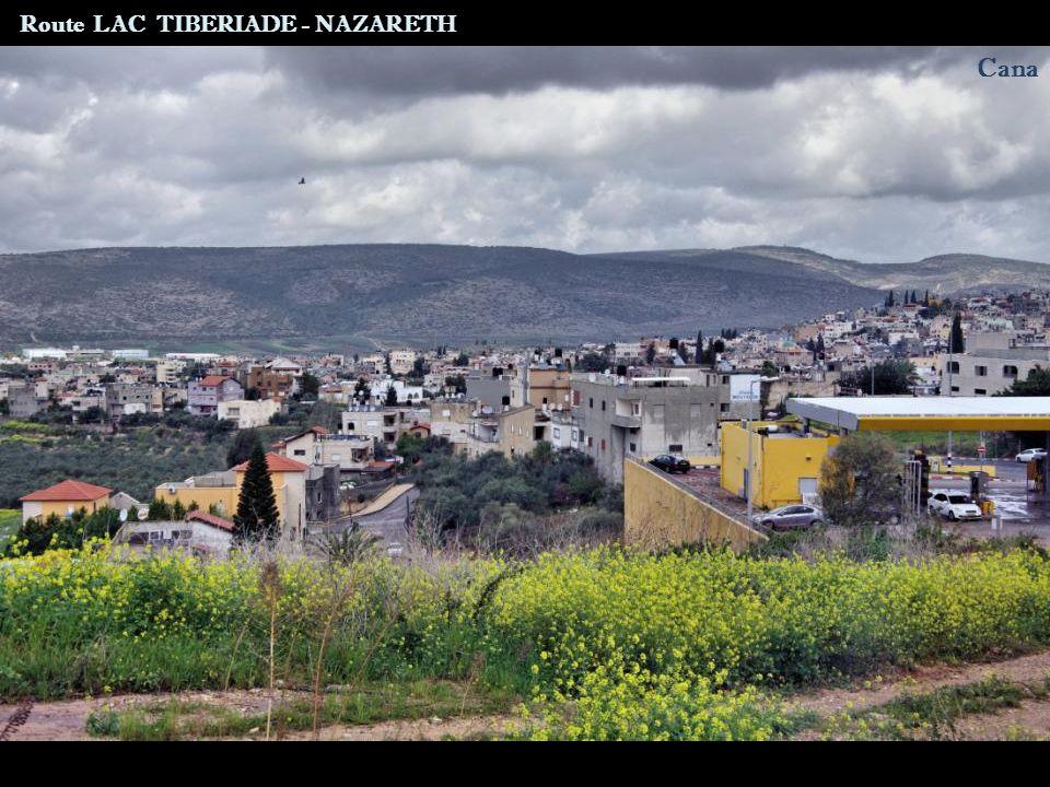 Route LAC TIBERIADE - NAZARETH Tur An
