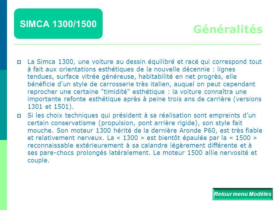 SIMCA 1300/1500 Détails  Retour menu Modèles