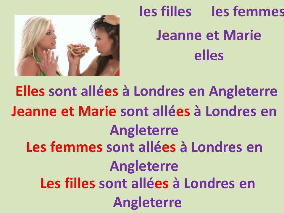 les fillesles femmes Jeanne et Marie elles Elles sont allées à Londres en Angleterre Jeanne et Marie sont allées à Londres en Angleterre Les femmes sont allées à Londres en Angleterre Les filles sont allées à Londres en Angleterre