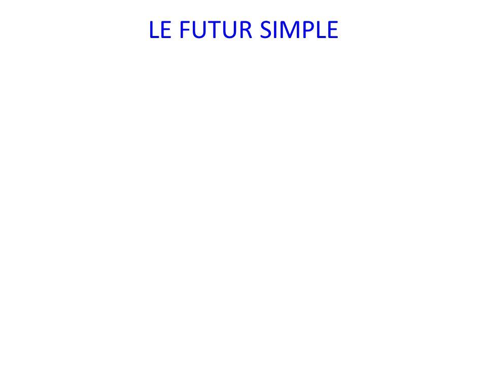 Emploi Pour exprimer une action qui aura lieu dans le futur.