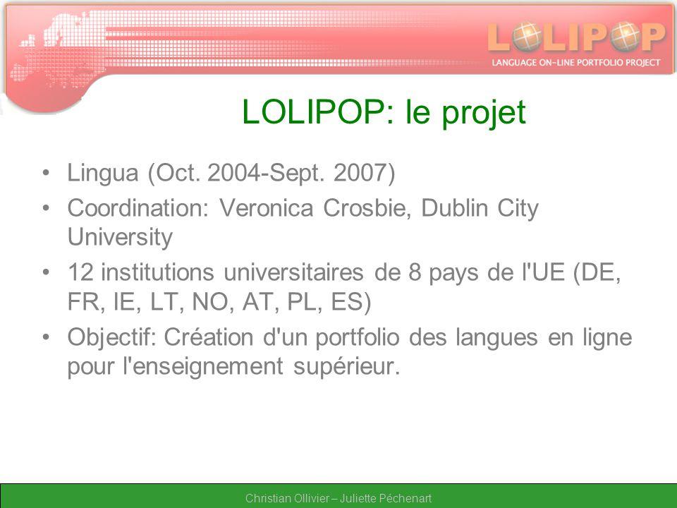 Christian Ollivier – Juliette Péchenart LOLIPOP: le projet Lingua (Oct.