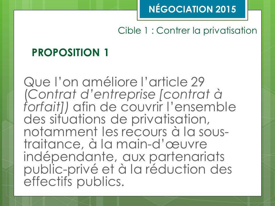 Cible 3 : Révision de la nomenclature et amélioration de son mécanisme de modification Que l'on améliore l'article 31 (Mécanisme de modifications à la nomenclature des titres d'emploi, des libellés, des taux et des échelles de salaire) afin de rendre plus efficace le mécanisme de modifications à la nomenclature à plusieurs égards.