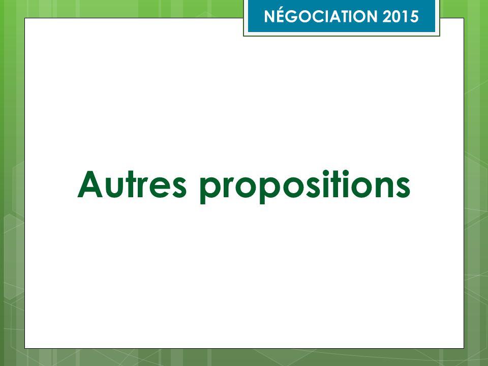 Autres propositions NÉGOCIATION 2015