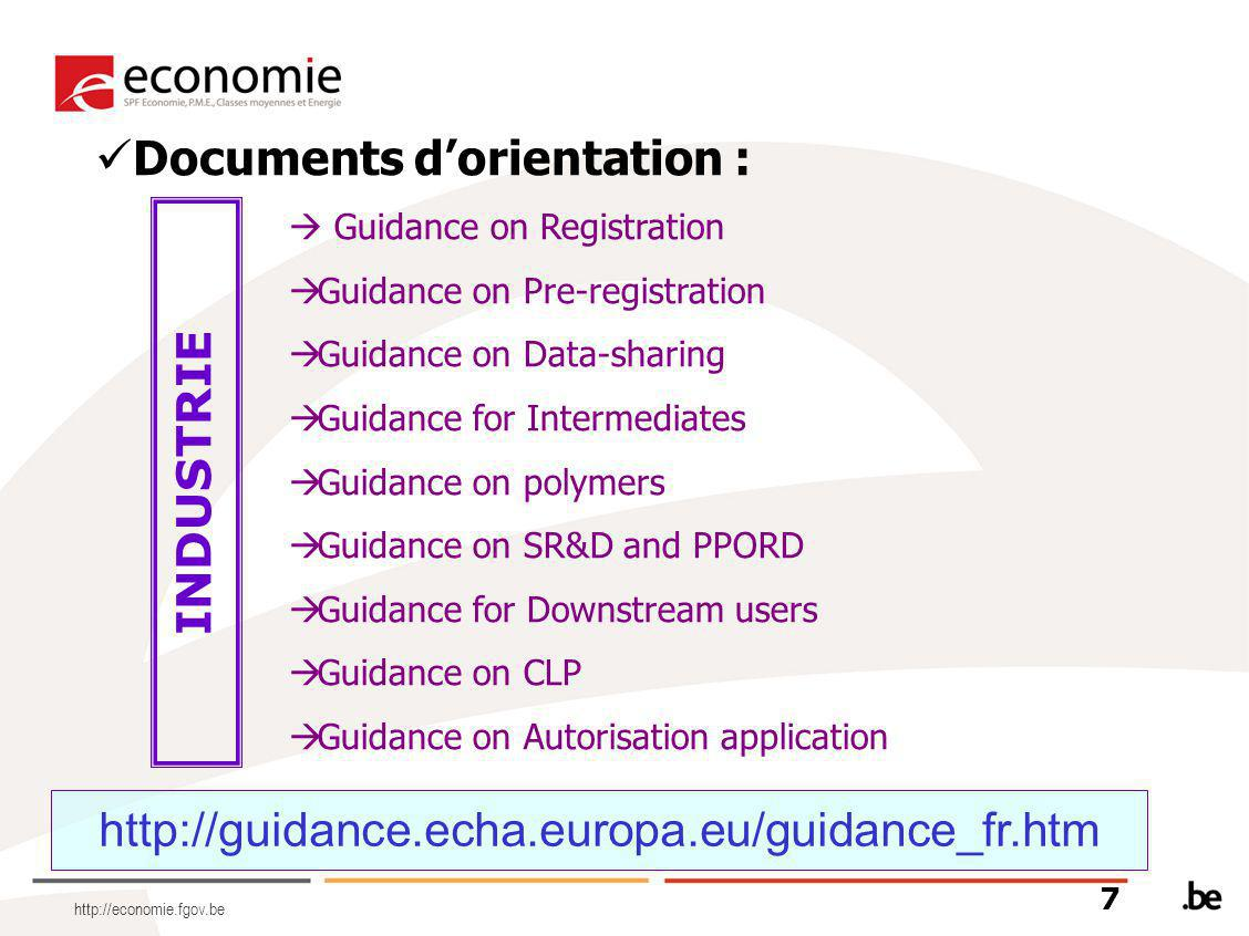 Documents d'orientation :  Guidance on Registration  Guidance on Pre-registration  Guidance on Data-sharing  Guidance for Intermediates  Guidance