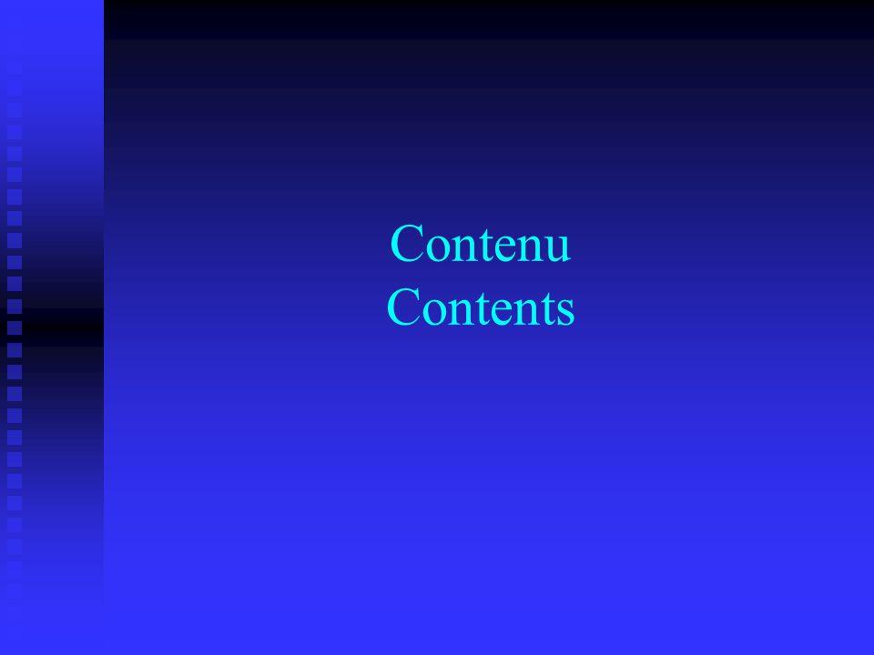 Contenu Contents