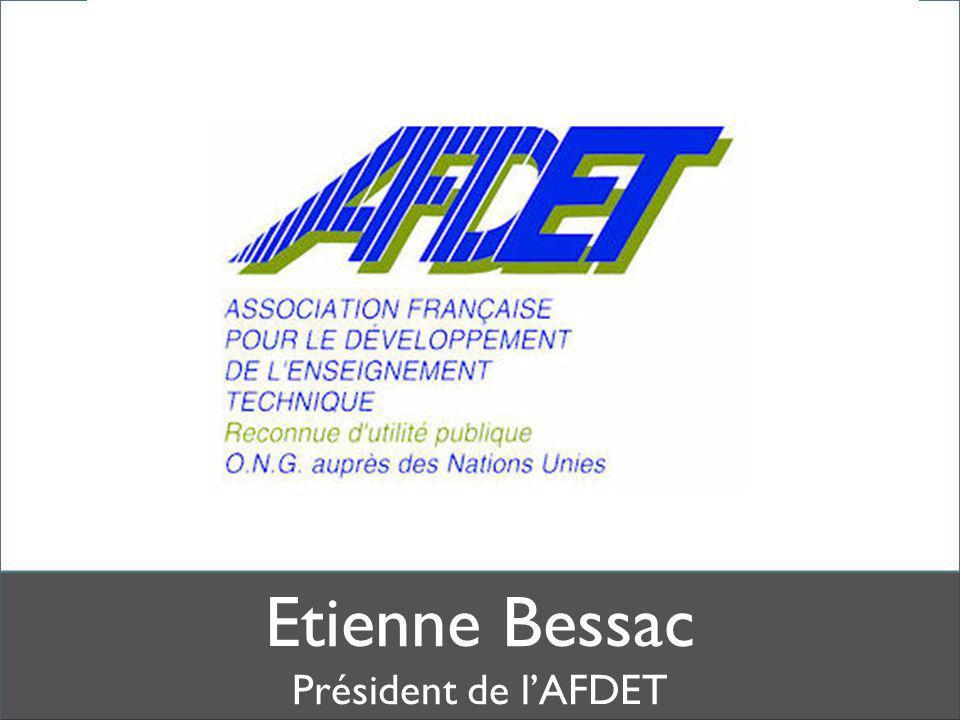 Etienne Bessac Président de l'AFDET