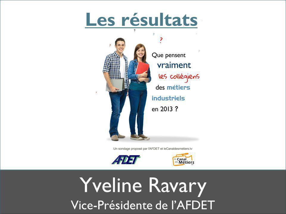 Yveline Ravary Vice-Présidente de l'AFDET Les résultats