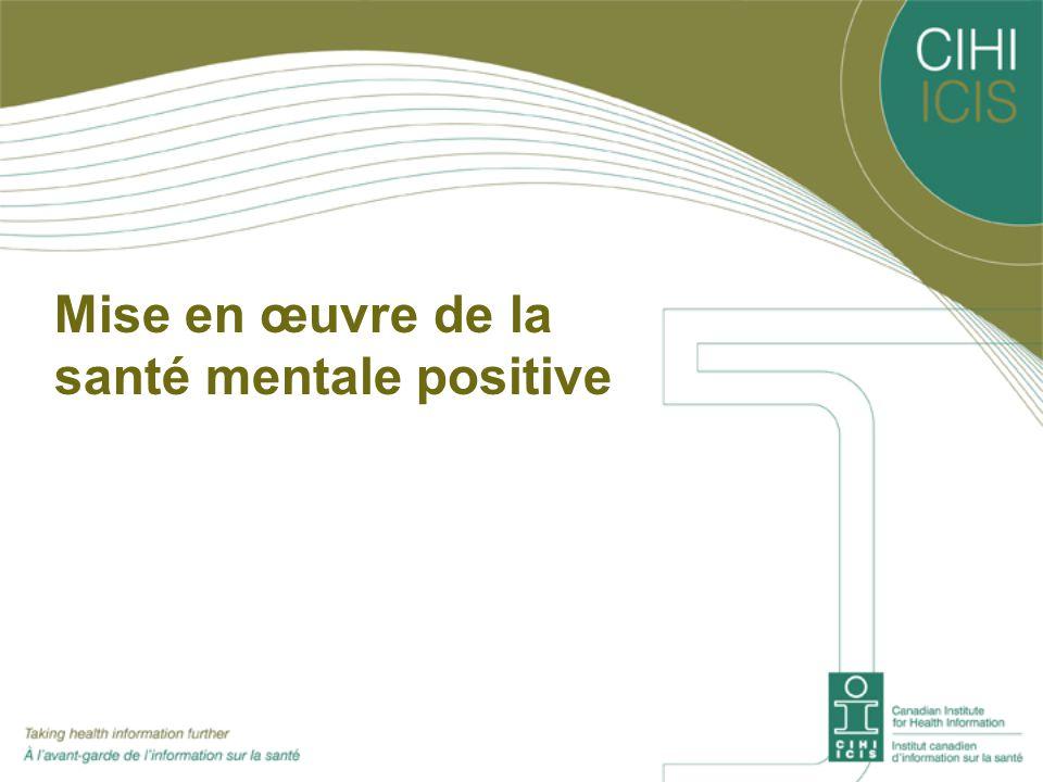 Mise en œuvre de la santé mentale positive