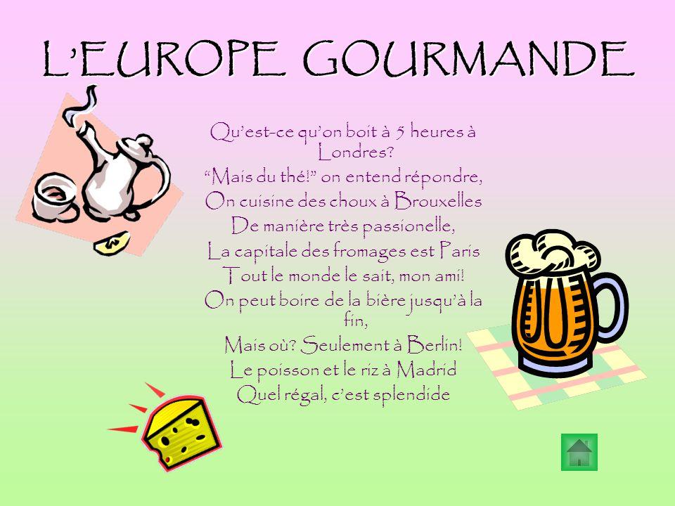 L'EUROPE GOURMANDE Qu'est-ce qu'on boit à 5 heures à Londres.