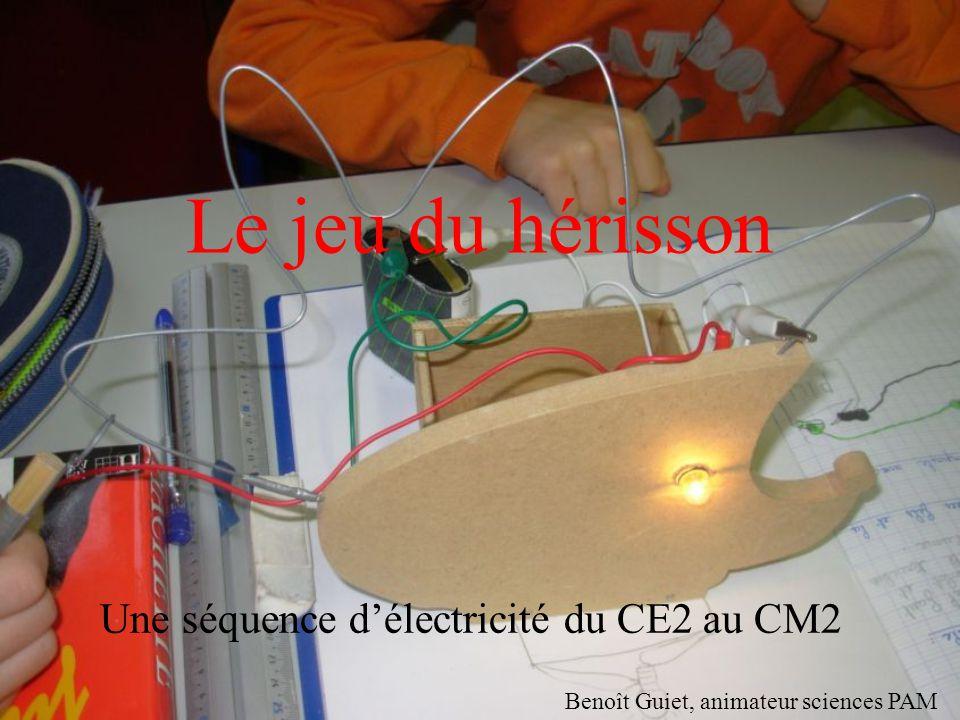 Le jeu du hérisson Une séquence d'électricité du CE2 au CM2 Benoît Guiet, animateur sciences PAM