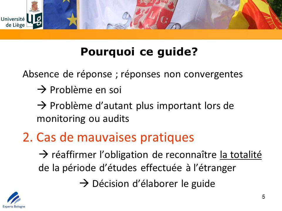 Pourquoi ce guide? Absence de réponse ; réponses non convergentes  Problème en soi  Problème d'autant plus important lors de monitoring ou audits 2.