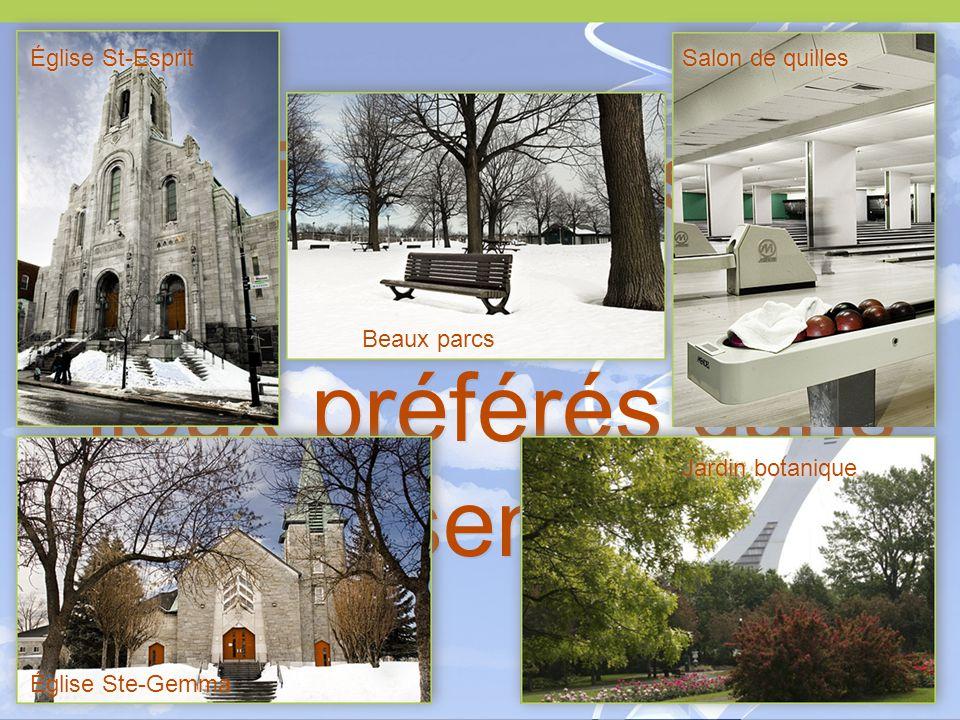 Voici quelques-uns de leurs lieux préférés dans Rosemont Église St-Esprit Église Ste-Gemma Salon de quilles Jardin botanique Beaux parcs