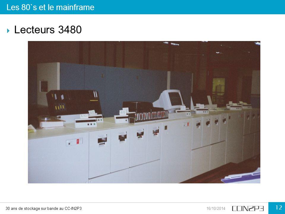 Les 80`s et le mainframe 30 ans de stockage sur bande au CC-IN2P316/10/2014 12  Lecteurs 3480