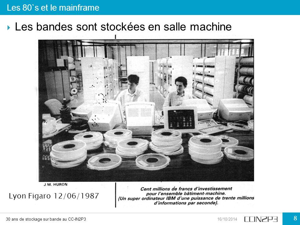  Les bandes sont stockées en salle machine Les 80`s et le mainframe 30 ans de stockage sur bande au CC-IN2P316/10/2014 8 Lyon Figaro 12/06/1987