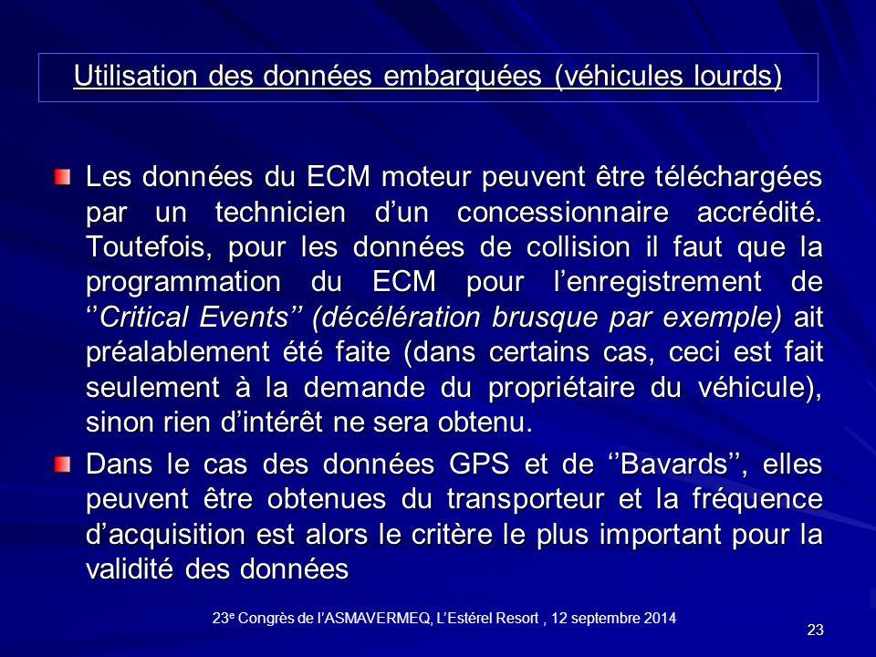 23 Les données du ECM moteur peuvent être téléchargées par un technicien d'un concessionnaire accrédité.