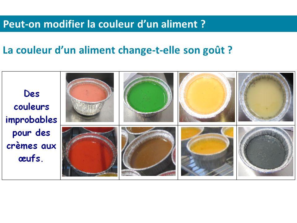 Peut-on modifier la couleur d'un aliment ? La couleur d'un aliment change-t-elle son goût ?