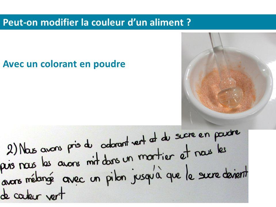 Peut-on modifier la couleur d'un aliment ? Avec un colorant en poudre