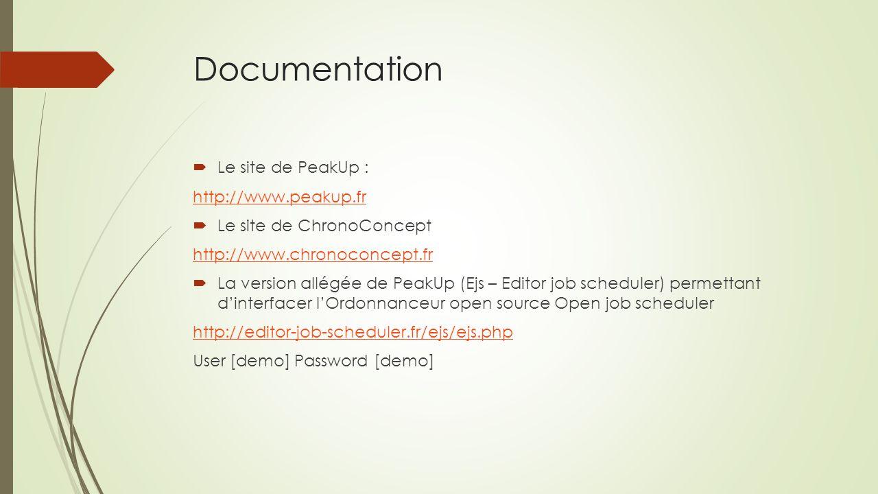 Documentation  Le site de PeakUp : http://www.peakup.fr  Le site de ChronoConcept http://www.chronoconcept.fr  La version allégée de PeakUp (Ejs –