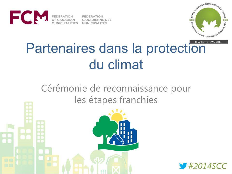 Partenaires dans la protection du climat Cérémonie de reconnaissance pour les étapes franchies