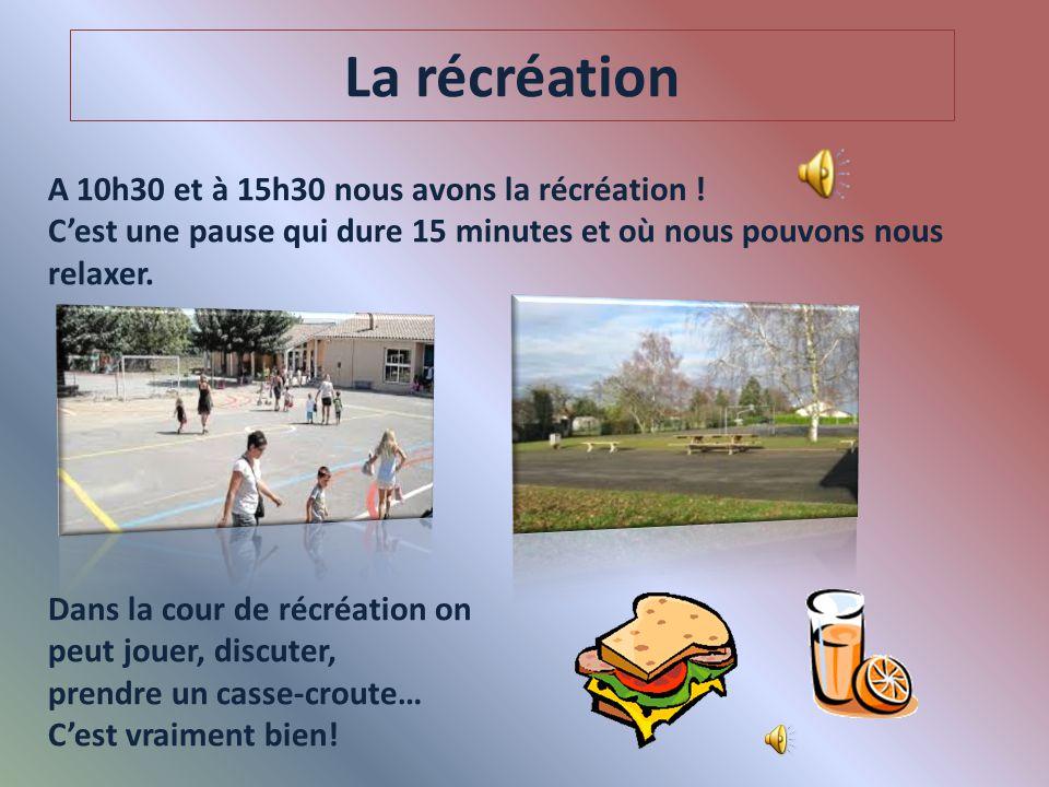 Les matières En France, dans les écoles publiques il n'y a pas de cours de religion. Et il est rare de trouver des cours de cuisine et d'art dramatiqu