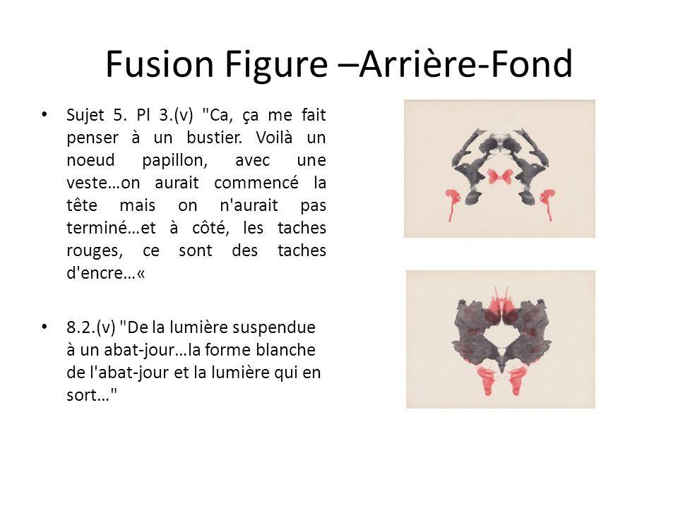 Fusion Figure –Arrière-Fond Sujet 5.Pl 3.(v) Ca, ça me fait penser à un bustier.