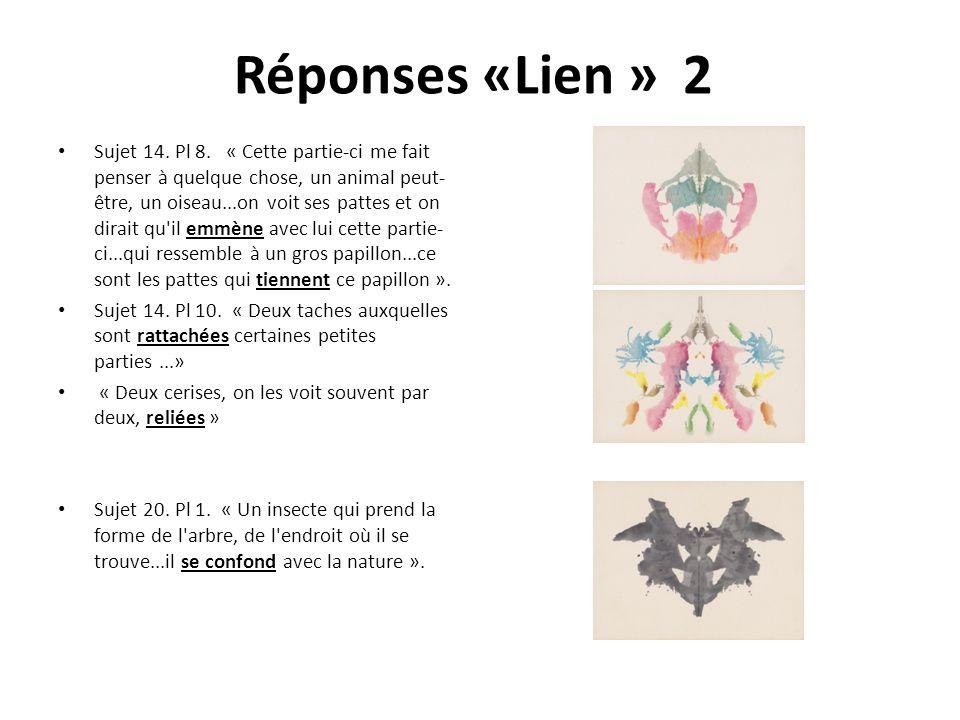 Réponses «Lien » 2 Sujet 14.Pl 8.