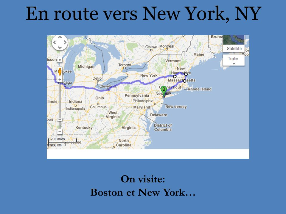 En route vers New York, NY On visite: Boston et New York…