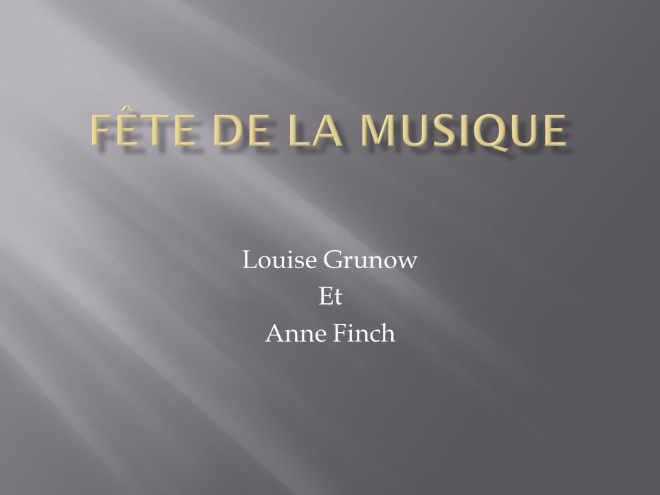 Louise Grunow Et Anne Finch
