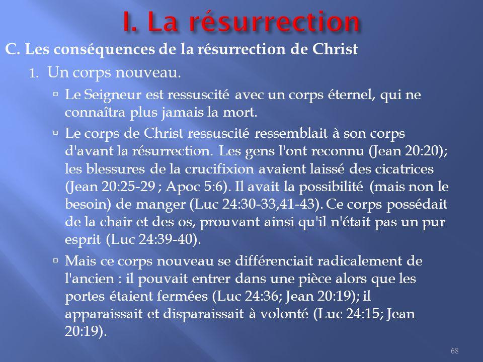 C.Les conséquences de la résurrection de Christ 1.