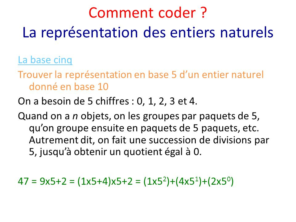 Comment coder .