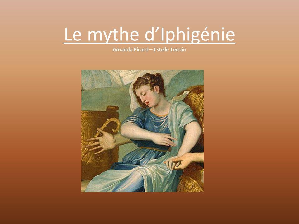 Résumé du Mythe L'épisode du sacrifice se situe au moment de la guerre de Troie.