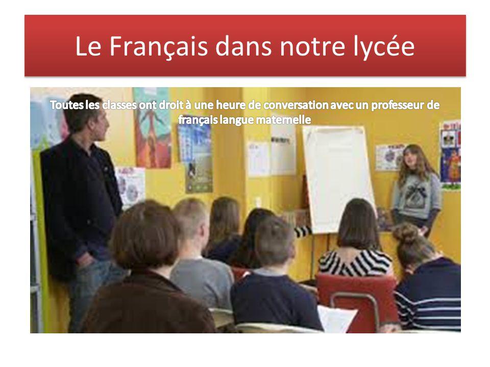 Le Français dans notre lycée