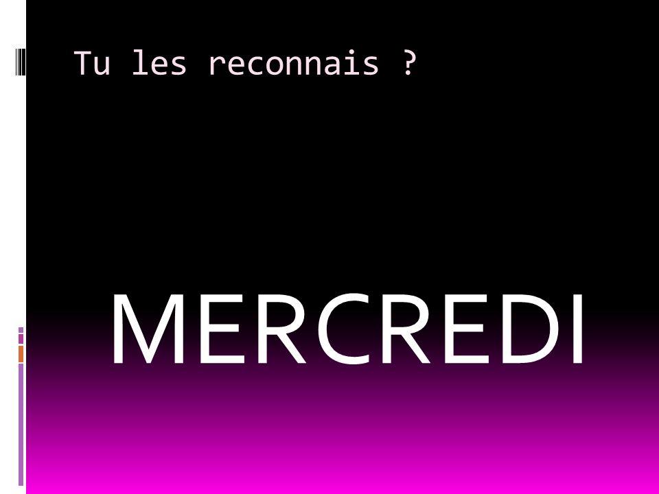 Comment on dit en français ? Saturday
