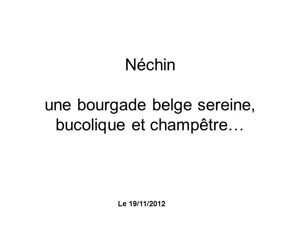 Néchin une bourgade belge sereine, bucolique et champêtre… Le 19/11/2012