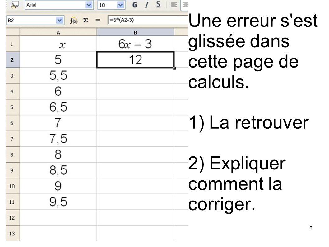 Une erreur s est glissée dans cette page de calculs.